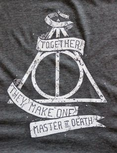 Harry Potter Deathly Hallows TShirt Handmade by iamjamesthornton, $25.00