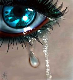 The value of tears. The relief in crying. Sad Eyes, Cool Eyes, Pretty Eyes, Beautiful Eyes, Crying Eyes, Realistic Eye Drawing, Look Into My Eyes, Eye Art, Blue Eyes