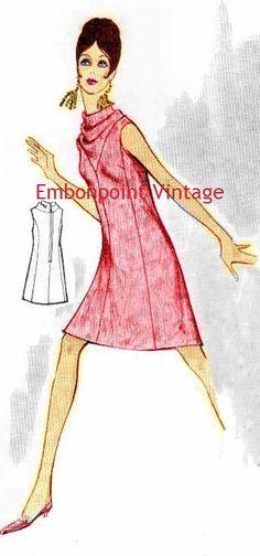 Plus Size (or any size) Vintage 1969 Cocktail Dress Pattern - PDF - Pattern No 118 Vera. $8.50, via Etsy.