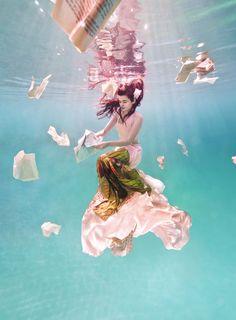 """Elsa Bleda by Ilse Moore in """"Wonderland Couture"""" for Feline Blush, Spring/Summer 2012"""