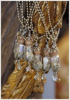 Glass vials as jewelry