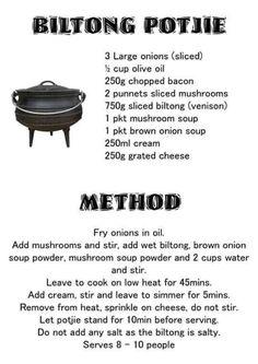 Braai Recipes, Beef Recipes, Stuffed Mushrooms, Fun Baking Recipes, Cooking Recipes, Biltong, Cook Up A Storm