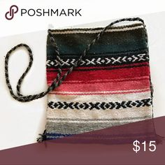 Mexican Blanket Cross Body Bag So cute and perfect for summer beach days! Made out of a real Mexican blanket! Bags Crossbody Bags