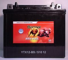 Banner Bike Bull 51012  Motorradbatterie 12V/10Ah(C20)  http://www.shop.ecke-batterien.de/Motorradbatterie-12V/10AhC20