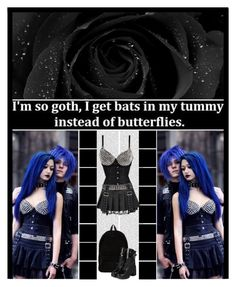 """""""I'm so goth..."""" by ilovehedgehogs1029 ❤ liked on Polyvore featuring Oris, Ann Demeulemeester, Alivila.Y Fashion, yeswalker, Dark, gothic, allblack, cybergoth, emocouple and emo"""