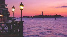 Beautiful sunset at Lido  The satellite islands of Venice