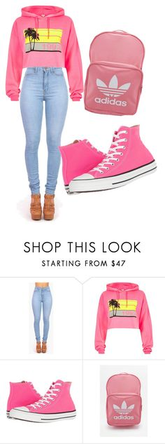 """""""Untitled #111"""" by itsayak on Polyvore featuring Vibrant, River Island, Converse and adidas"""