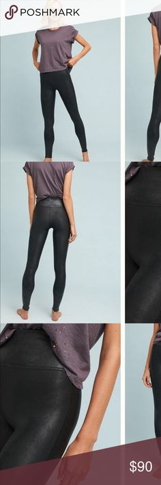 59d3461bb7aac7 Spanx Faux Leather Leggings Black Small NWOT Spanx Fuax Leather Leggings  New Without Tags Tags have