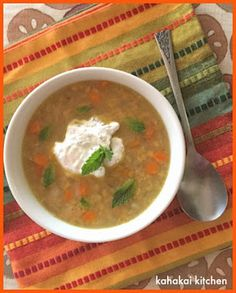 Kahakai Kitchen: Simple Red Lentil Soup with Caraway and Minted Yogurt for Souper (Soup, Salad & Sammie) Sundays - carrots