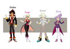 Sonic Charakters as humans Sonic The Hedgehog, Hedgehog Art, Silver The Hedgehog, Shadow The Hedgehog, Character Concept, Character Design, Character Art, Sonic Y Amy, Sonamy Comic