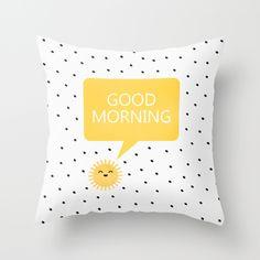 #goodmorning #sunshine #cute #pillow #home #decor #throwpillow #cushion #society6 #nursery #kidsroom #childrens