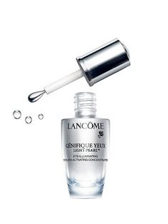 This eye-illuminating serum goes on super easily with the help of its cooling, rotating applicator that fits perfectly in the contours of your eye. The best part is, you can use the rounded tip to give the area around your eye a mini massage as you apply the formula. The pressure of the applicator helps to break up any built-up under eye fluid that causes puffiness.  Lancôme Génifique Eye Light-Pearl Eye-Illuminating Youth Activating Concentrate, $68, lancome-usa.com   - Cosmopolitan.com
