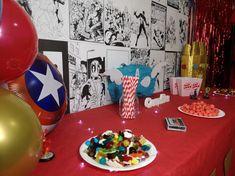 Organiser un anniversaire Marvel - SabrinaBerrich Captain Marvel, Costume Thor, Anniversaire Harry Potter, Lets Celebrate, Diy Organization, Birthday, Party, Leftover Fabric
