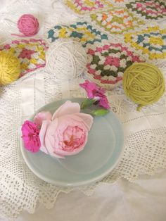 crochet and flowers