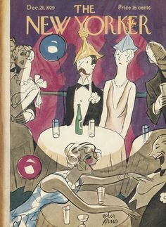 The New Yorker - Saturday, December 28, 1929 - Issue # 254 - Vol. 5 - N° 45 - Cover by : Peter Arno