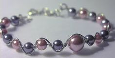 DIY Pearl and Wire Bracelet