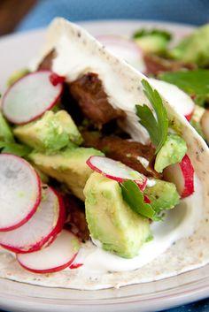 Spicy Steak Tortillas with Avocado