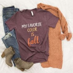This gorgeous graphic tee is a must-have for ladies who are in love with all things fall!