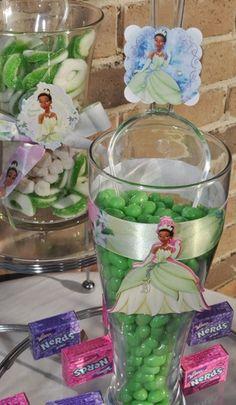 Coloured jelly beans to match theme Frog Birthday Party, Disney Princess Birthday Party, Barbie Birthday, 4th Birthday Parties, 1st Birthday Girls, Baby Party, Princess Party, Birthday Party Invitations, Birthday Ideas