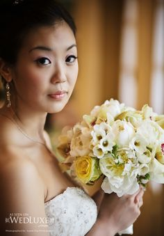 Bisou Bride, Sue!  Married May 21st 2011, wearing style #3804 by Lazaro!  **Featured on WedLuxe**