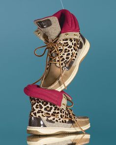 leopard & pink sperry