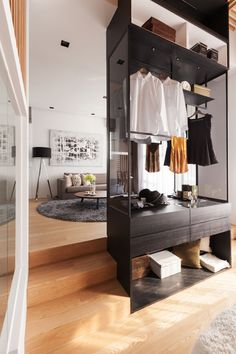 Modern Bathroom Design Home Deco Open Wardrobe Walk In Hotel Room Design, Small Room Design, Lounge Design, Open Wardrobe, Wardrobe Closet, Wardrobe Ideas, Walk In Closet Design, Closet Designs, Designer Hotel