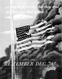 American propaganda poster 'Remember Dec 7th', 1942