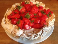 Strawberry pavlova - April 2015, spring is here and so are the Fourques strawberries from the Bourbon family's farm!