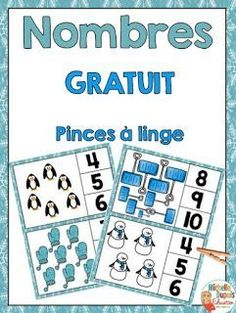 FREEBIE - Clothes pin numbers by Michelle Dupuis Education Fun Classroom Activities, Preschool Curriculum, Preschool Lessons, Winter Activities, Kindergarten Activities, Autism Activities, Primary Teaching, Teaching Math, Teaching Ideas