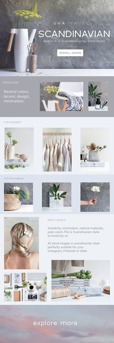 Scandinavian style photo bundle by una images on Images with one of the best creative motives, perfect for a modern corporate appearance for business companies. This images are modern, simple and stylish; have a good inspiration or grab some ideas. Web Design, Blog Design, Design Layouts, Graphic Design, Media Design, Webdesign Inspiration, Brand Inspiration, Creative Sketches, Social Media Template
