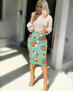 Looking for the best kitenge designs in Africa? See images of kitenge dresses and skirts, African outfits for couples, men's and baby boy ankara styles. African Print Skirt, African Print Dresses, African Dress, Latest African Fashion Dresses, African Print Fashion, Africa Fashion, African Attire, African Wear, African Outfits
