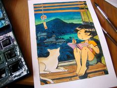 Atelier Sentô Indie Games, Cave, Coloring, Coral, Watercolor, Baseball Cards, Atelier, Pen And Wash, Watercolor Painting
