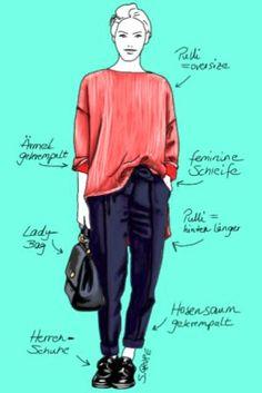 So stylen Sie #Outfits aus #Basics sofort interessanter: 6 Geheimnisse der Stil-Vorbilder, erklärt auf www.modefluesterin.de