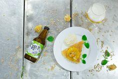Citronkladdkaka med ölkräm - Trerättersmeny med Brutal Brewing, efterrätten