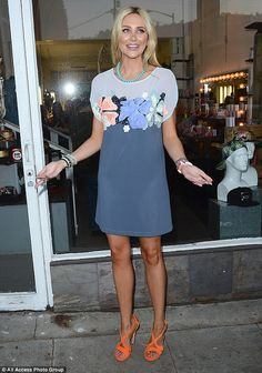 Smiling through the pain: Stephanie Pratt put on a brave face in the wake of her recent sp...
