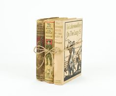 Antique Boy Scout Book Stack / Boys Adventure by tawneyvintage, $32.00