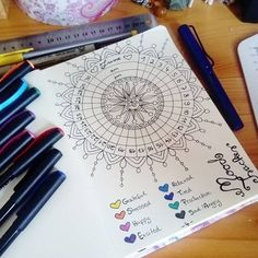 """93 Likes, 11 Comments - Turning moments into memories. (@the.neverending.journal) on Instagram: """"My June Mood Tracker, inspired by @boho.berry, first time I'm trying to use one in my bujo. …"""""""