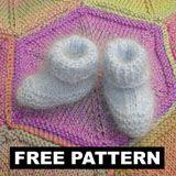 Angora Baby Booties  Free Knitting Pattern