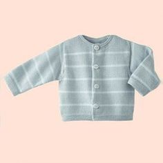 Phildar - Stripped Cardigan (w matching Overalls ) - Baby Gray - pattern in French Kids Knitting Patterns, Baby Patterns, Baby Knitting, Crochet Baby, Free Crochet, Cardigan Bebe, Baby Cardigan, 3rd Baby, Baby Kids