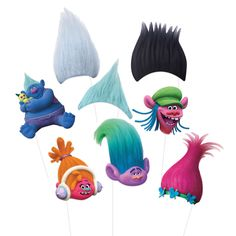 Snap silly photos at a Trolls birthday party with the help of these Trolls Photo Booth Props. For Trolls themed party supplies, shop Michaels.com.