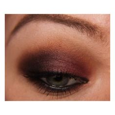 Step-By-Step: Cranberry Smoke with Makeup Geek Shadows | Makeup Geek ❤ liked on Polyvore