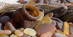 a brown Marmite Sea Glass bottle