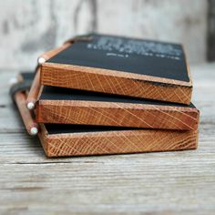 Chalkboard Tablets a Trio made from reclaimed wood by PegandAwl, $65.00