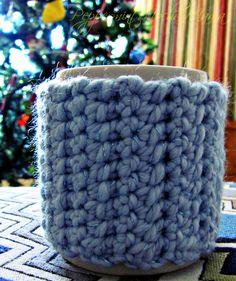 Free pattern for my mug hug cup cozy.