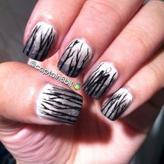 i am sooo flippin' terrified of slender man, but i thought it'd be a cool halloween nail design. :D!