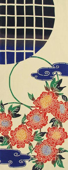《kenema-けねま-》日本製注染本染め手ぬぐい花圃紅牡丹(くれないぼたん)120411【メール便OK】