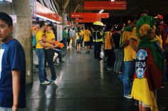 São Paulo Subway  Brazil WorldCup 2014  Brazil vs Croatia #OpeningGame #BrazilWoldCup2014 #WorldCup2014 #Brazil2014 #SaoPaulo