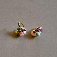 """Boucles d'oreilles femme pierres quartz roses, jades, agates et turquoises jaunes : Modèle """"Maëlle"""" : Boucles d'oreille par kanakeis"""
