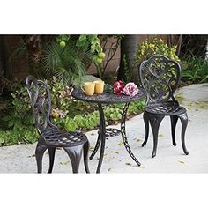 Darlee Hampton 3 Piece Patio Bistro Set in Antique Bronze *** Want additional info? Click on the image.