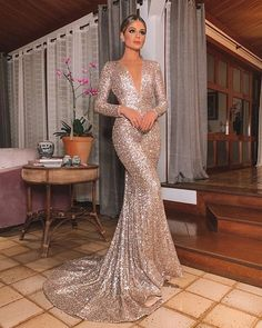 mermaid Prom Dress sequin evening gown vp7698 by VestidosProm, $142.66 USD Sequin Evening Dresses, Mermaid Evening Dresses, Sequin Dress, Evening Gowns, Evening Party, Chiffon Dresses, Satin Dresses, Sexy Dresses, Sleeveless Dresses